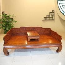 红木家具红木罗汉床?#30340;?#32599;汉床两件套中式?#39064;?#32043;檀木