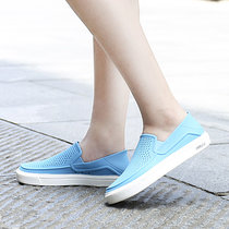 Crocs卡骆驰女鞋2019夏季新款沙滩鞋一脚穿懒人鞋户外凉鞋|204622(蓝色 39)