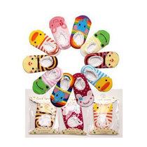 好阿姨春秋 可爱儿童袜子 婴儿 防滑棉船袜 地板袜 空调袜 松口宝宝袜(女宝宝 均码)