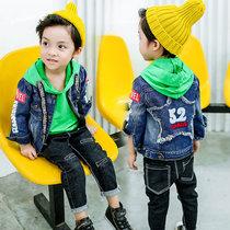 男孩童装2男童3男宝宝春秋4岁韩版6儿童牛仔衣外套秋装夹克上衣潮(后背五角星52牛仔外)(140cm)