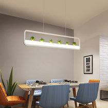 美吉特 现代简约长条形吊灯 台球桌led吊灯 吧台吊灯 工业风会议桌公司用吊灯(1头小号 双色分段)