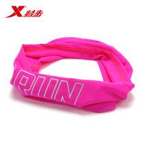 特步運動束發帶男女 運動頭巾吸汗束發帶 網球籃球跑步時尚束發帶 883137809025(玫紅)