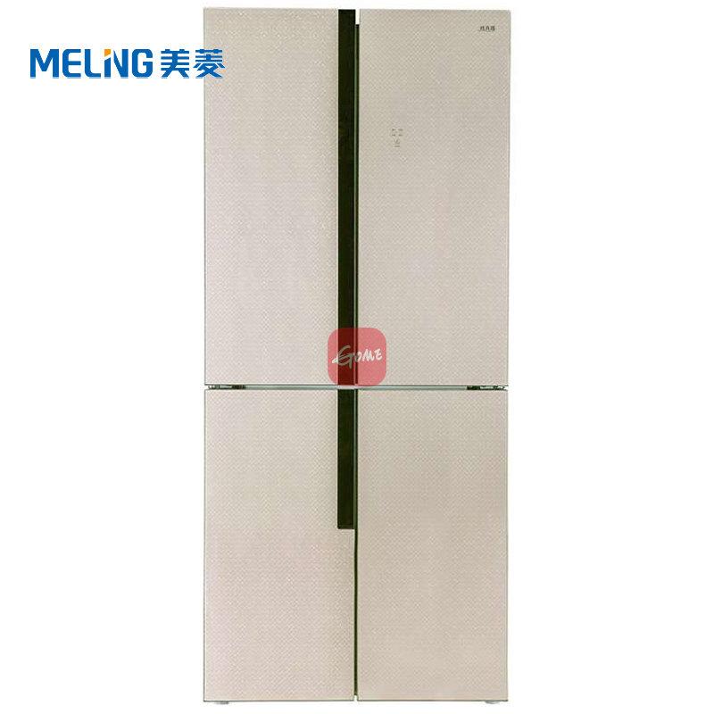 美菱(MeiLing)BCD-430WUP9B 430升(L)电脑风冷变频(金色)十字对开门三循环冰箱