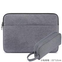 苹果笔记本电脑包Macbook13.3内胆包12保护套ipad pro15.6air14加绒防震小米12.5英防水创意(13.3英寸)(深灰_加大电源包_)