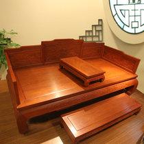 红木家具红木罗汉床?#30340;?#32599;汉床三件套仿古中式非洲黄花梨木(其他 定金专拍)