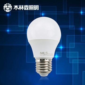 mls 木林森照明led灯泡球泡 灯e27螺口(9w暖白)图片