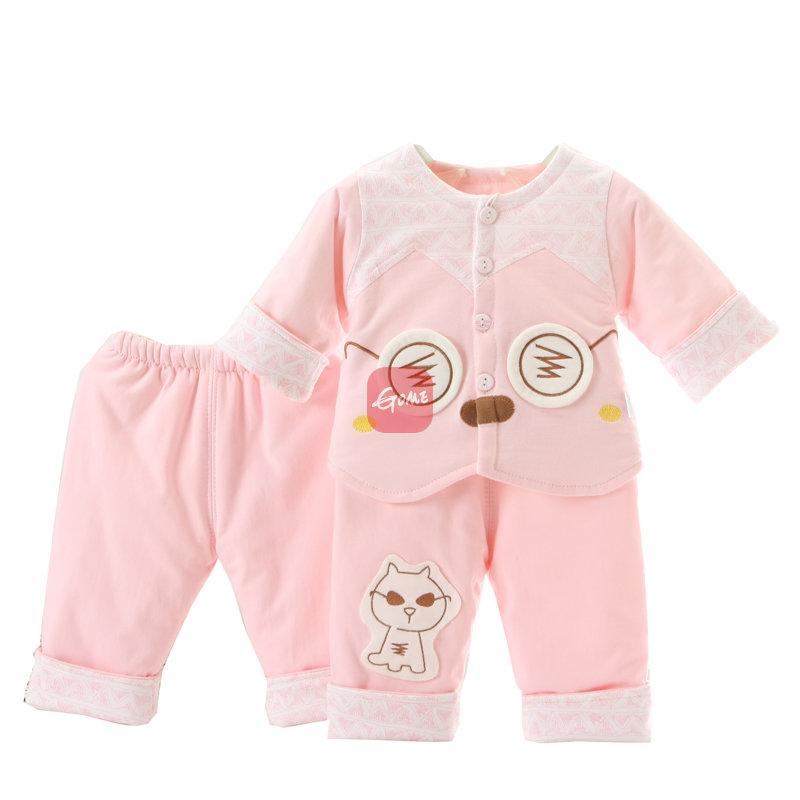 春秋装男女宝宝衣服春天婴儿童薄棉衣套装婴幼儿外套0