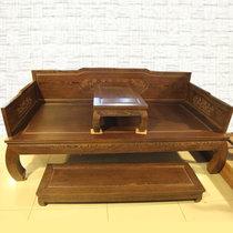 红木家具红木罗汉床四件套?#30340;?#32599;汉床中式仿古简易鸡翅木