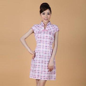 嘉彦资 气质女装 旗袍 绣花 修身显瘦 时尚淑女 2335