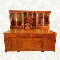 红木家具2.2米红木书桌?#30340;?#21150;公桌大班台老板桌%?#39064;?#32043;檀