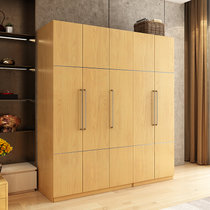 A家 衣柜 板木原木楓木衣柜北歐現代簡約衣柜 家具兩門三門五門大衣柜 3門(含褲架)(2門(含內柜) 衣柜)