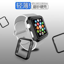 苹果手表保护壳iwatch4代3/2/1表套apple watch series边框保护套40mm配件44mm/42m(_4代44mm_气质黑色边框?#37096;?H)