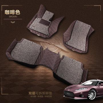 广汽丰田2015年新款凯美瑞汽车脚垫第七代专用原装地毯面(咖啡色)