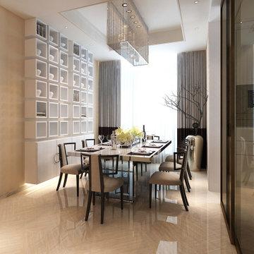 东易日盛 温州店 别墅装修设计 室内家庭装修 中式风格装修效果图