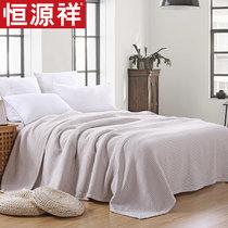 恒源祥纯棉床单毛巾被复古三层?#24202;?#21333;人双人毛巾毯空调毯午睡毯夏(横条(棕))