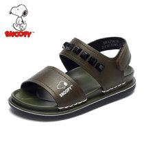 ?#25918;?#27604;童鞋夏季新品男童凉鞋防滑沙滩凉鞋透气舒适男童鞋皮凉鞋S8125838(28码/约173mm 军绿)