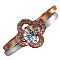 梦克拉Mkela 18k金钻石戒指 幻彩花耀 一款多带 结婚戒指