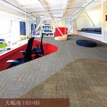 办公室地毯写字楼商用公司方块拼接地毯卧室客厅家用铺满地毯工程(天蝎座U-03+05)