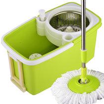 如诺 免手洗平板拖把 平拖拖布擦木地板瓷砖旋转墩布自滤水平拖 蓝色 标配(2个拖把头)(绿色)(标配(2个拖把头))