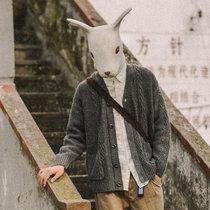2019春秋季針織開衫外套男士毛衣精神小伙韓版寬松毛線衣潮(淺灰色 M)