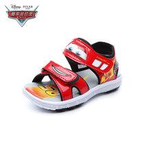 Disney/迪士尼童鞋2018夏季新款男童休闲凉鞋中小童凉鞋DS2766(33码 红色)