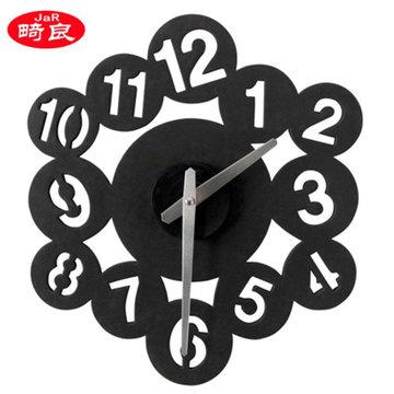 新款diy数字圆圈挂钟