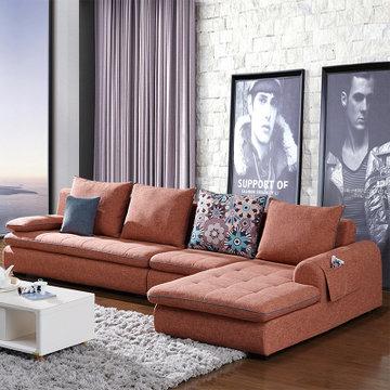 雙虎家私 沙發 布藝沙發 北歐沙發客廳家具組合套裝 可拆洗082(082a