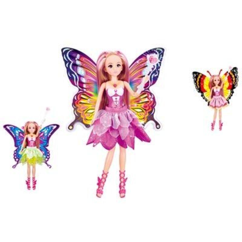 乐吉儿蝴蝶仙子生日h29a视频芭比娃娃玩具过家家梦幻可爱女孩娃娃风釆精美时尚小荷图片