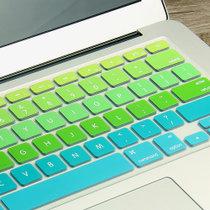 苹果笔记本电脑Macbook全覆盖Air13贴纸14日版彩色键盘膜防尘罩(国行/港11寸粉色渐变)