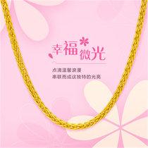 周大福时尚百搭足金黄金项链 计价F172885  5.29g  工费98 16寸