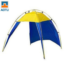 凹凸 户外运动遮阳帐篷沙滩帐篷 钓鱼遮阳帐篷垂钓公园帐篷AT6513(蓝黄拼色)