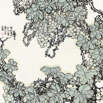 杜立军 胜似春色> 国画 花鸟画 水墨写意 墨石 野菠萝
