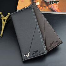 宏諾(Hongnuo)男士錢包 卡包 手拿包 長款短款錢包 大容量錢夾三款任選(長款錢包+短款錢包 黑色)