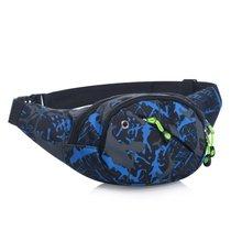 日式防水手機腰包戶外登山休閑運動包(藍色)