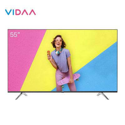 海信VIDAA 55V1F 55英寸4K超清智能语音全面屏网络平板液晶电视机