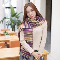 677888围巾女冬天韩版潮新款百搭款加厚针织保暖两用披肩围脖(花色)