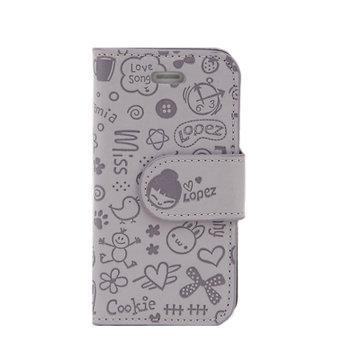 北陌 苹果 iphone4小可爱手机套 iphone4s侧翻手机壳