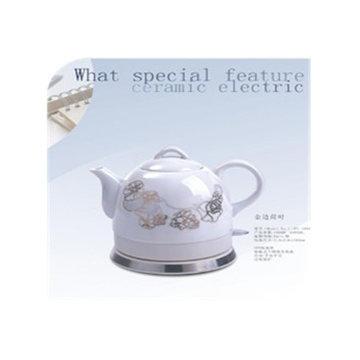 格顿陶瓷电热水壶烧水壶电茶壶保温(金边荷花)
