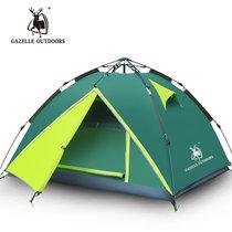 徽羚羊 帐篷四季野营帐篷3-4人露营帐篷(军绿)