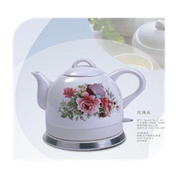 格顿陶瓷电热水壶烧水壶电茶壶保温(玫瑰花)
