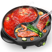 利仁(Liven)SK-J3200A電火鍋鍋家用無煙電烤盤不粘烤肉機涮烤火鍋一體