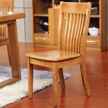 派森家具 简约现代 实木餐桌椅一对 两把餐椅 餐椅ps