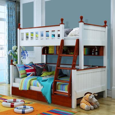 木巴 C214 全实木多功能高低子母床(上1.2米下1.5米 ) 2099元包邮