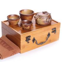 关耳窑 旅行茶具 竹制茶盘 三羊开泰(窑变(三羊开泰))