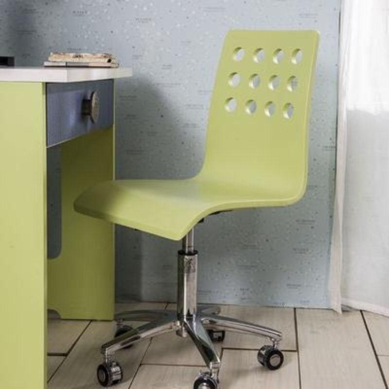 多喜爱 儿童家具 椅子 电脑椅 转椅 靠背椅 学习椅 特价(淡绿色)
