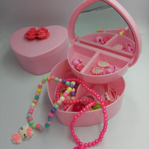 满368赠精美小公主玩具首饰盒一个,内含项链手链戒指梳子发夹发绳钥匙扣等等(粉红色)