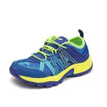 李宁童鞋户外登山鞋中大童男童透气耐磨防滑低帮徒步鞋网鞋旅游鞋(AHTL032-3 34)