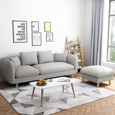 一米色彩 北欧布艺小户型沙发组合(大三人位不含脚踏) 999元包邮