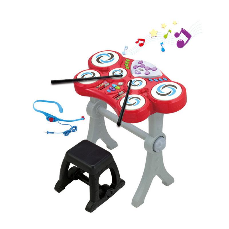 【乐器类图片】英纷玩具架子鼓幼儿童小孩学习早教敲.