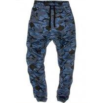 2017新款男士休闲裤男式迷彩军工裤 嘻哈健身(XXXL)(海军迷彩)
